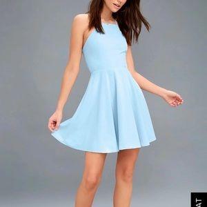 Light blue short Lulus dress